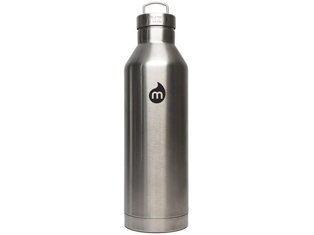 MIZU V8 Geïsoleerde Drinkfles met Roestvrijstalen kap 800ml, stainless